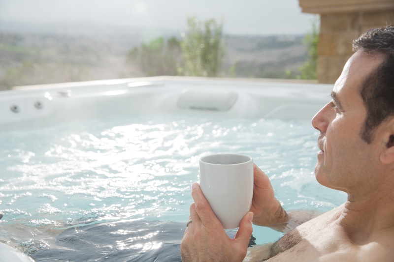 Highlife® Envoy™ - Enjoy an invigorating soak with your morning cuppa | HotSpring Spas