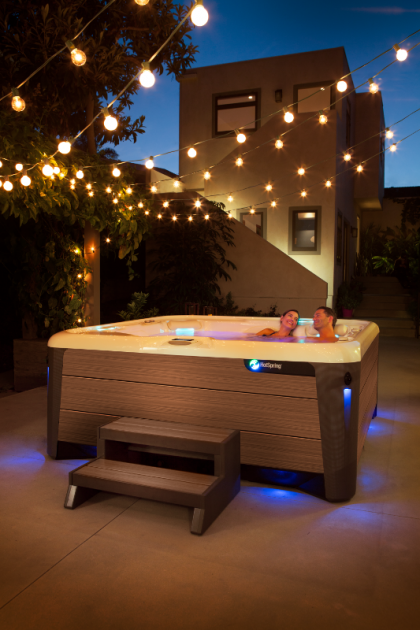 The Highlife® Aria™ - Beautiful sleek styling meets best-selling comfort | HotSpring Spas