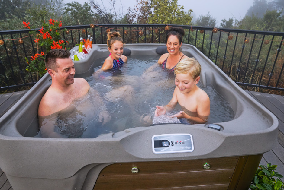 Kids will love the waterfall feature and the multi-colour LED light | HotSpring Spas