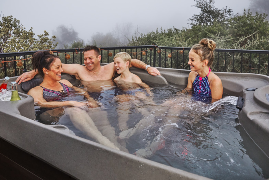 The Azure Premier spa pool deep and spacious and perfect for spending quality time with your family.  | HotSpring Spas