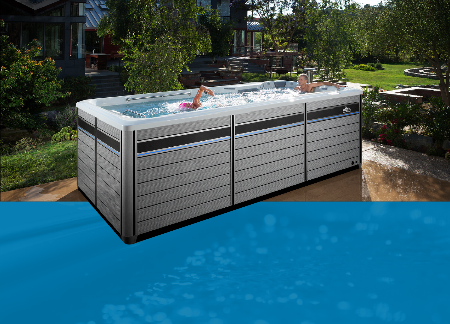 What is a swim spa more than a swimming pool spa pool - How much is an endless pool swim spa ...